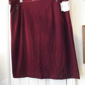 Kasper Pencil Skirt in Maroon Size 18